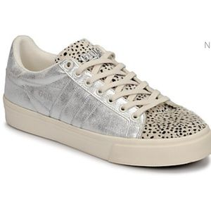 Gola Animal Print and Silver Sneakers orchid sz 6